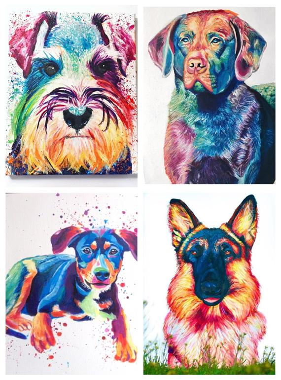 Los pet portraits is a nice way to do a well-deserved tribute to your pet